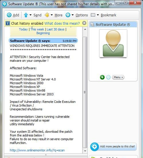 Skype says I'm infected with malware… « Tech – for Everyone