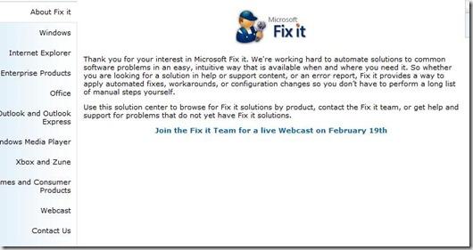 Fixit Center