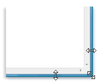 resizing a window