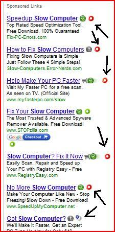 "WOT warnings on ""speed up your PC"" sites"
