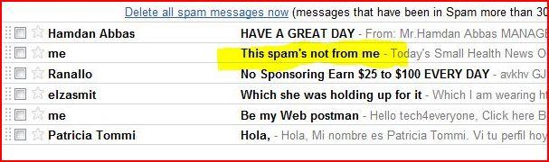 weird spam