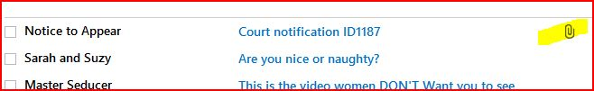 Looks scary. I better open it and see why someone expects me to appear in court...