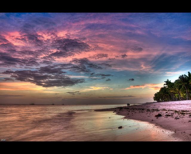 image beach sunset