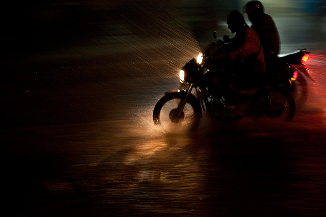 image motorcycles in rain